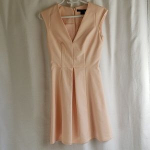 Peach v neck french connection dress